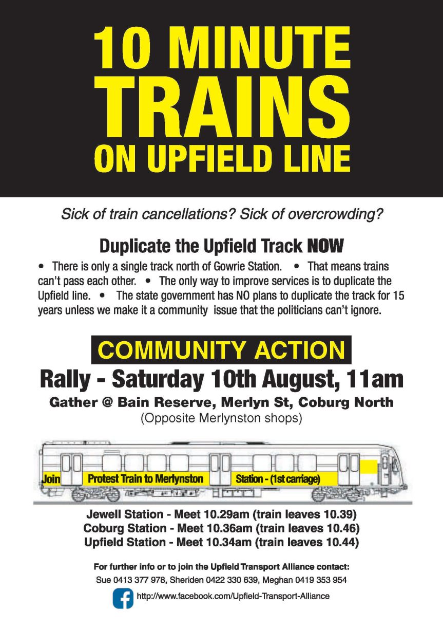 Merlynston action for more trains on the Upfield Line